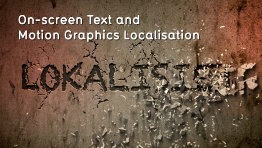 on-screen text localisation