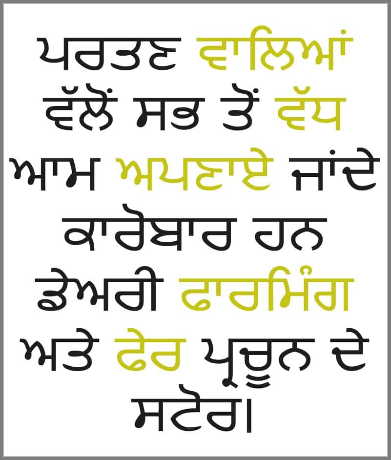 Punjabi Language Corner