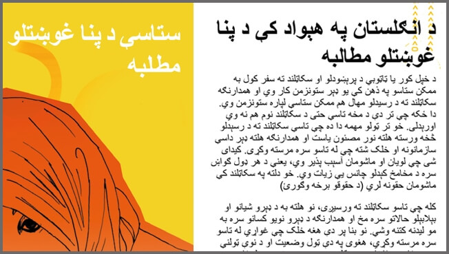 Pashto typesetting