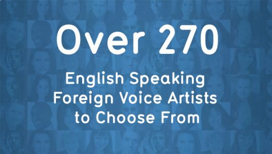 English speaking foreign voice artists