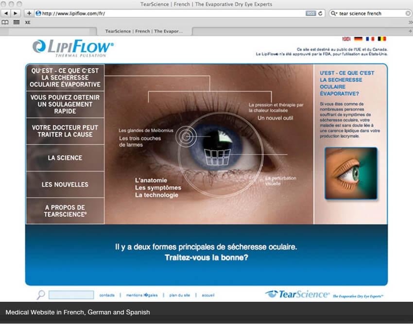French website translation