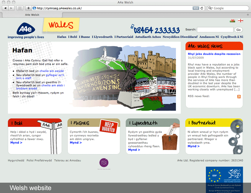 Welsh website translations