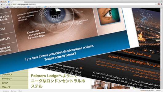 Japanese website translations